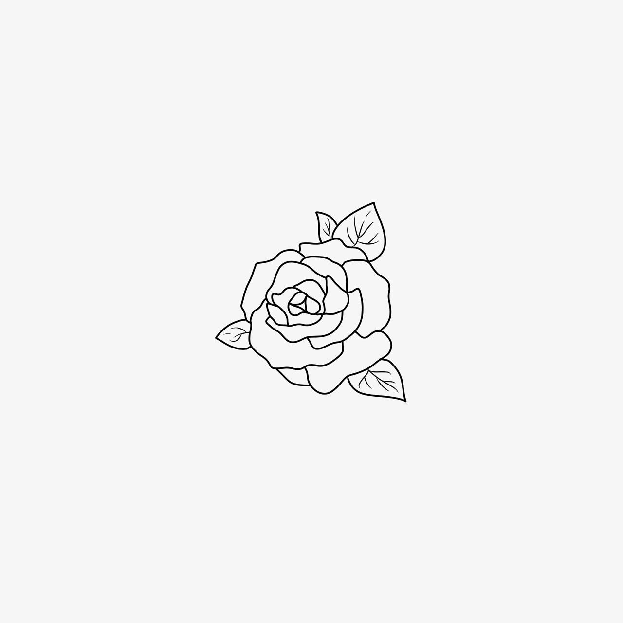 Likes Tumblr Rose Drawing Tattoo Small Rose Tattoo Small Tattoos