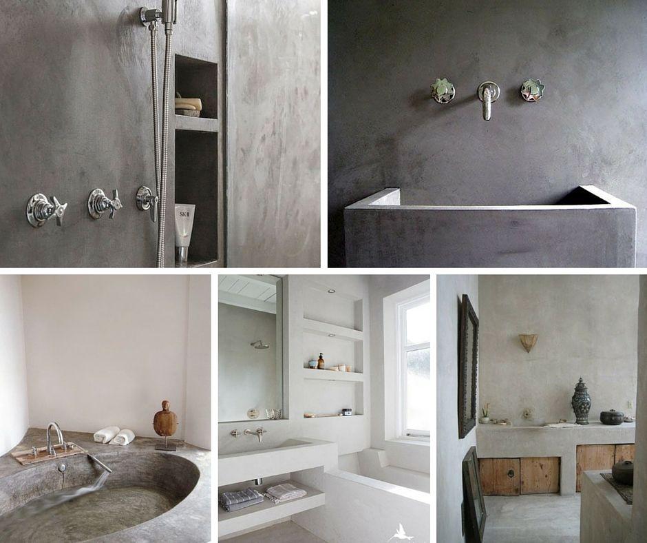 Waan je badkamer in Tadelakt | Tadelakt, beton, kamień | Pinterest
