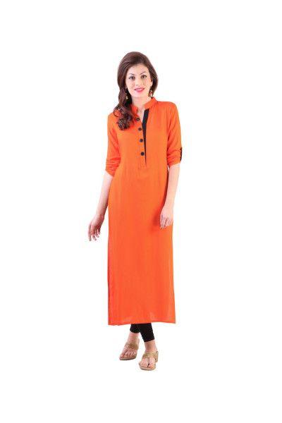 92060e7dfcbc New Summer DESIGNER Orange Color Kurti