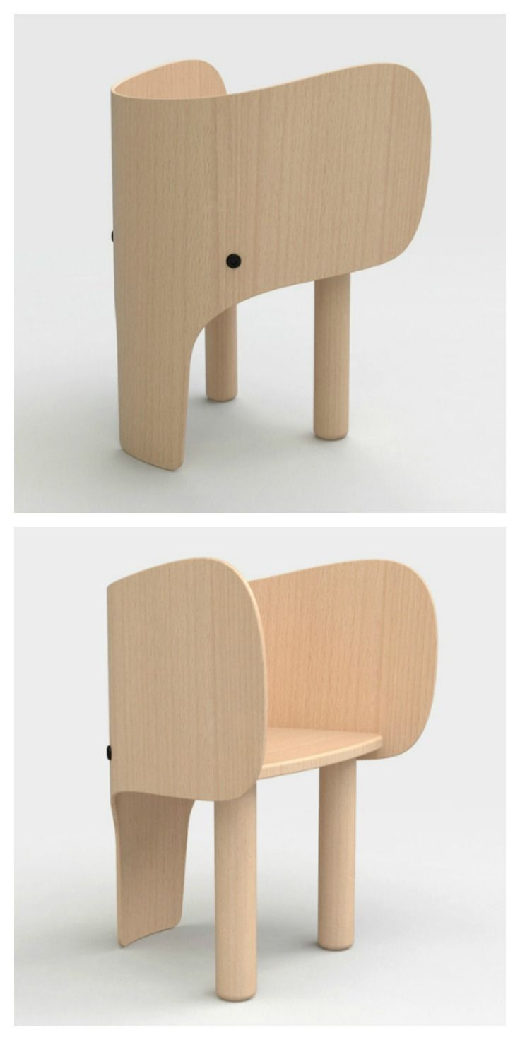 Elephant Chair  Table by Marc Venot  wood stuff  Kids