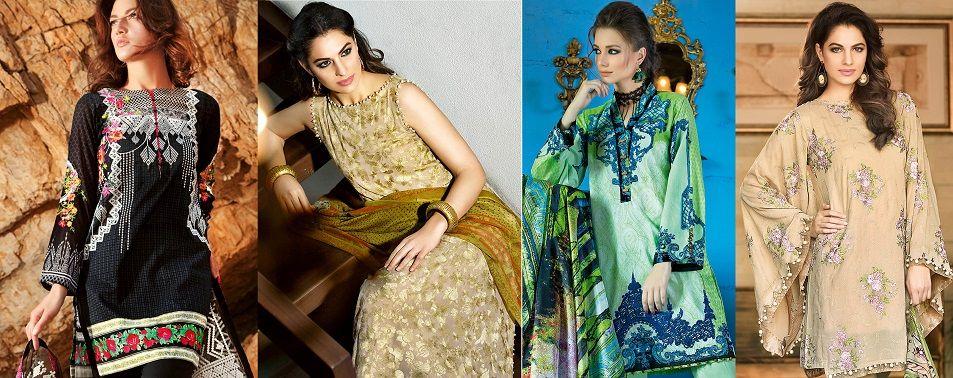Gul Ahmed Summer Formal Dresses Jacquard & Chiffon ...