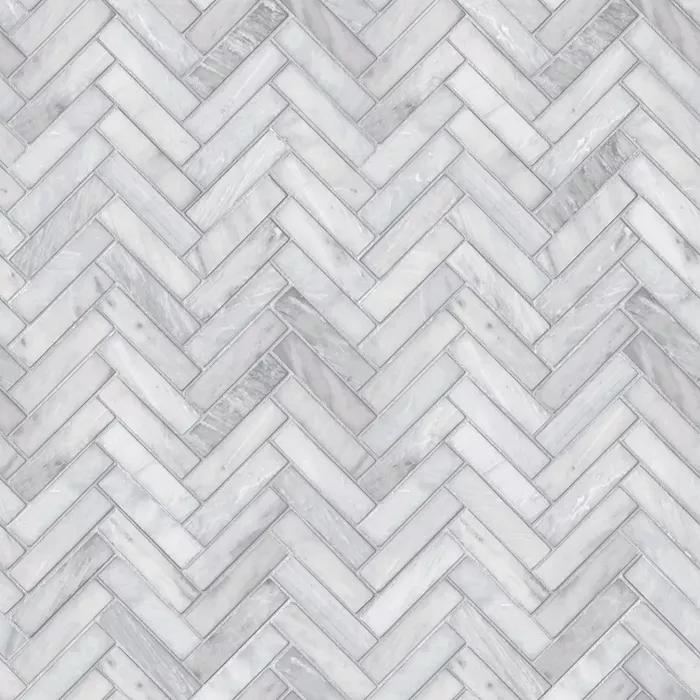 Marble Herringbone Tile Peel Stick Wallpaper Gray Threshold Marble Herringbone Tile Herringbone Tile Herringbone Wallpaper