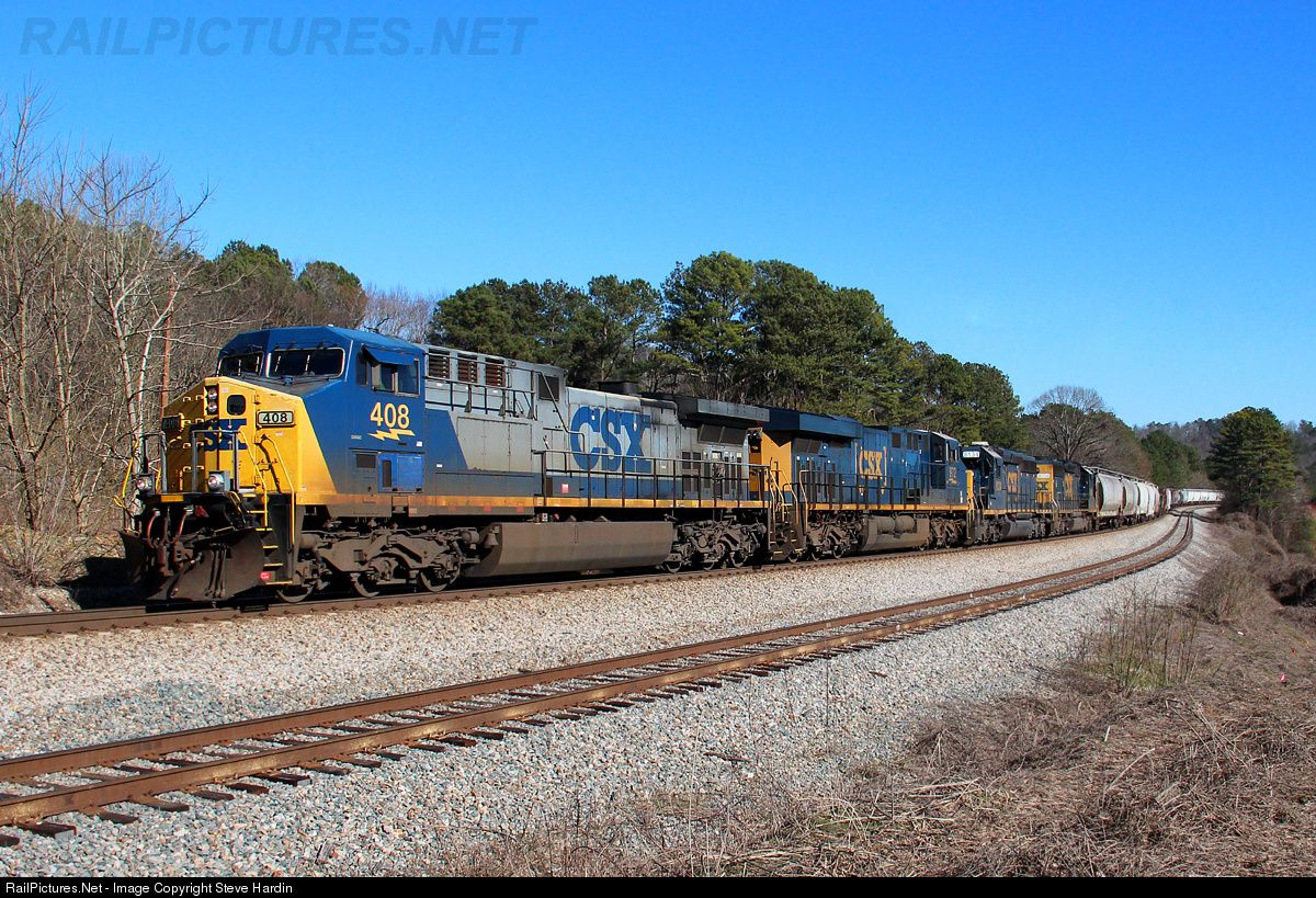 The Nashville bound freight train powers upgrade through the S curve at Emerson, GA on a mild winter afternoon in Georgia.