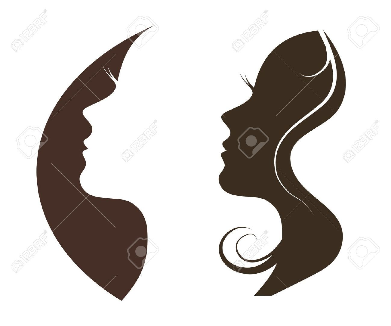 Woman Chat Vector Logo Design Template. Girl Silhouette - Cosmetics,.. Royalty Free Cliparts, Vectors, And Stock Illustration. Image 31414881.