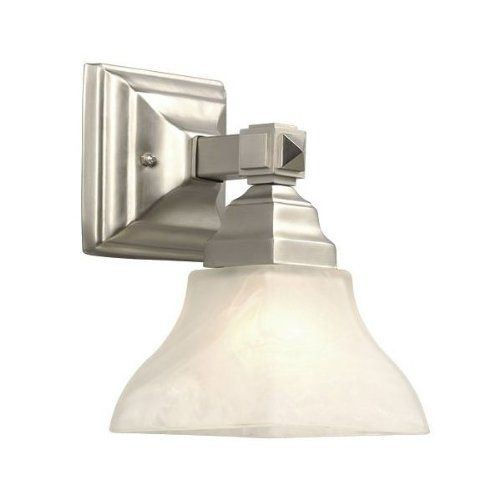 Galaxy Lighting 711411PT Oakmont Bathroom Light by Galaxy. $73.03. From the Manufacturer                Finish:Pewter, Glass :White Marbled, Light Bulb:(1)60w A19 Med F Incand Oakmont vanity light. Some assembly required.                                    Product Description                Finish:Pewter, Glass :White Marbled, Light Bulb:(1)60w A19 Med F Incand Oakmont vanity light   Some assembly required.. Save 13% Off!