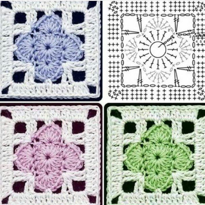 Piastrelle | diagrammi | Pinterest | Cuadrados, Ganchillo y Tejido