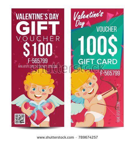 Valentine\u0027s Day Voucher Template Vector Vertical Free Card - payment voucher template