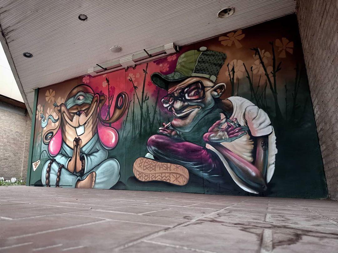 "Polubienia: 754, komentarze: 14 – Street & Art Beauty (@street_art_beautyamsterdam) na Instagramie: ""Artist: @geertsapo @nasher70 @hetzuilenkabinet . . . #streetart#urbanart #graffitiart…"""