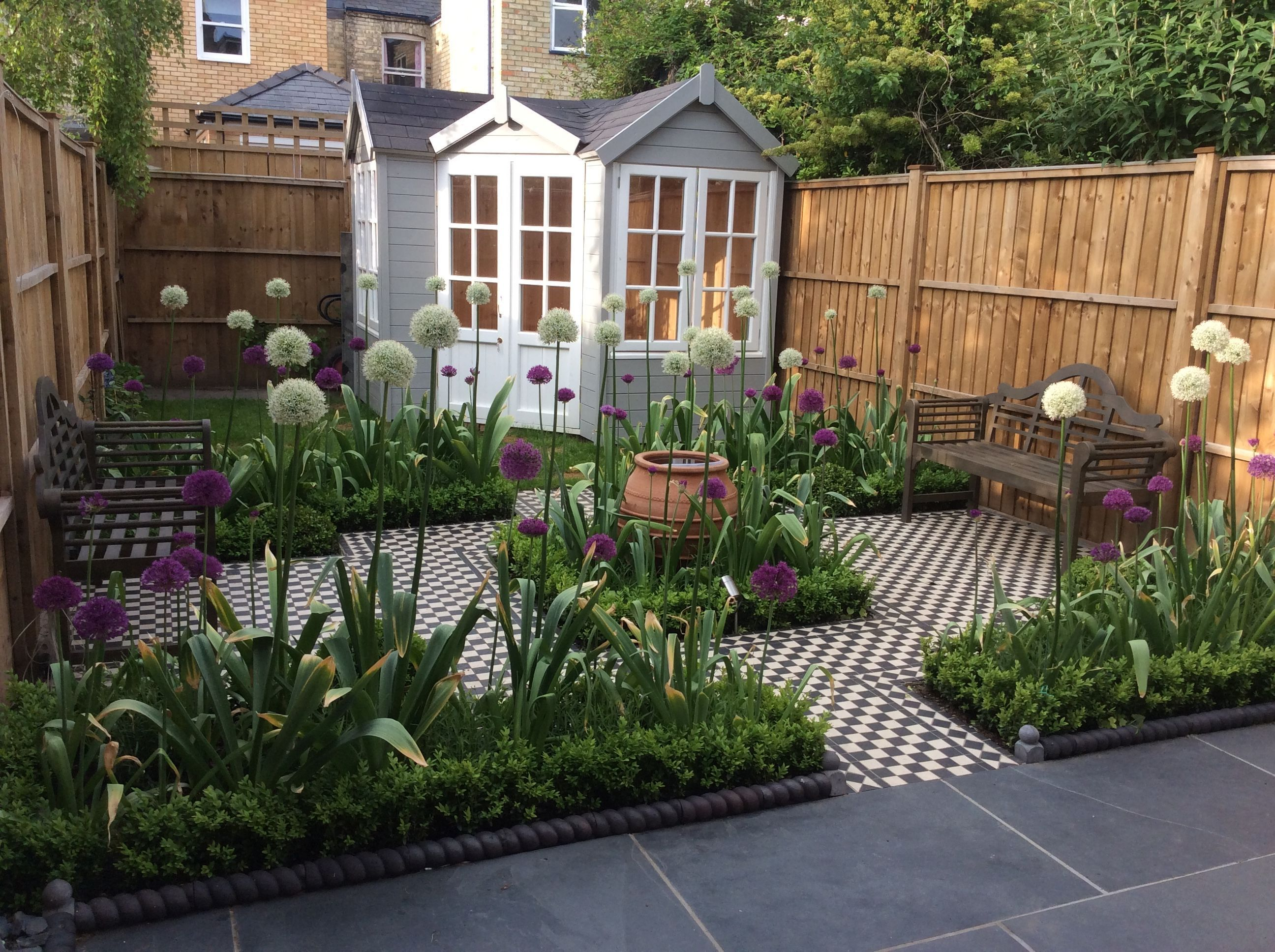 Small Back Garden Of Victorian Terraced House Even If The Topography Of Your Backyard Snakes Into Small Back Gardens Townhouse Garden Terraced House Garden