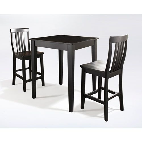 Crosley Furniture Three Piece Pub Dining Set With Tapered Leg And