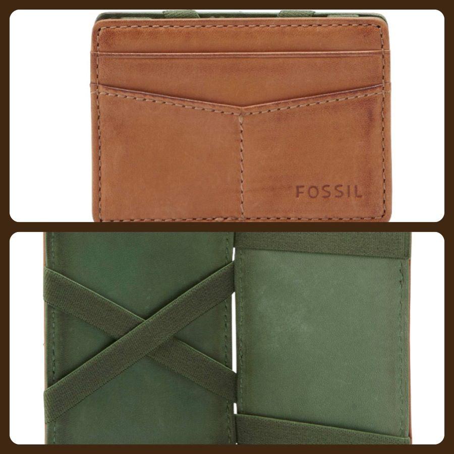 Fossil wallet. Double side card holder w/ Inside elastic strap ...