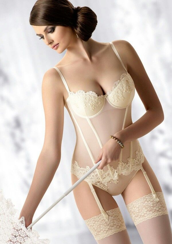 Wedding lingerie for the honeymoon. Lace sheer corset ...
