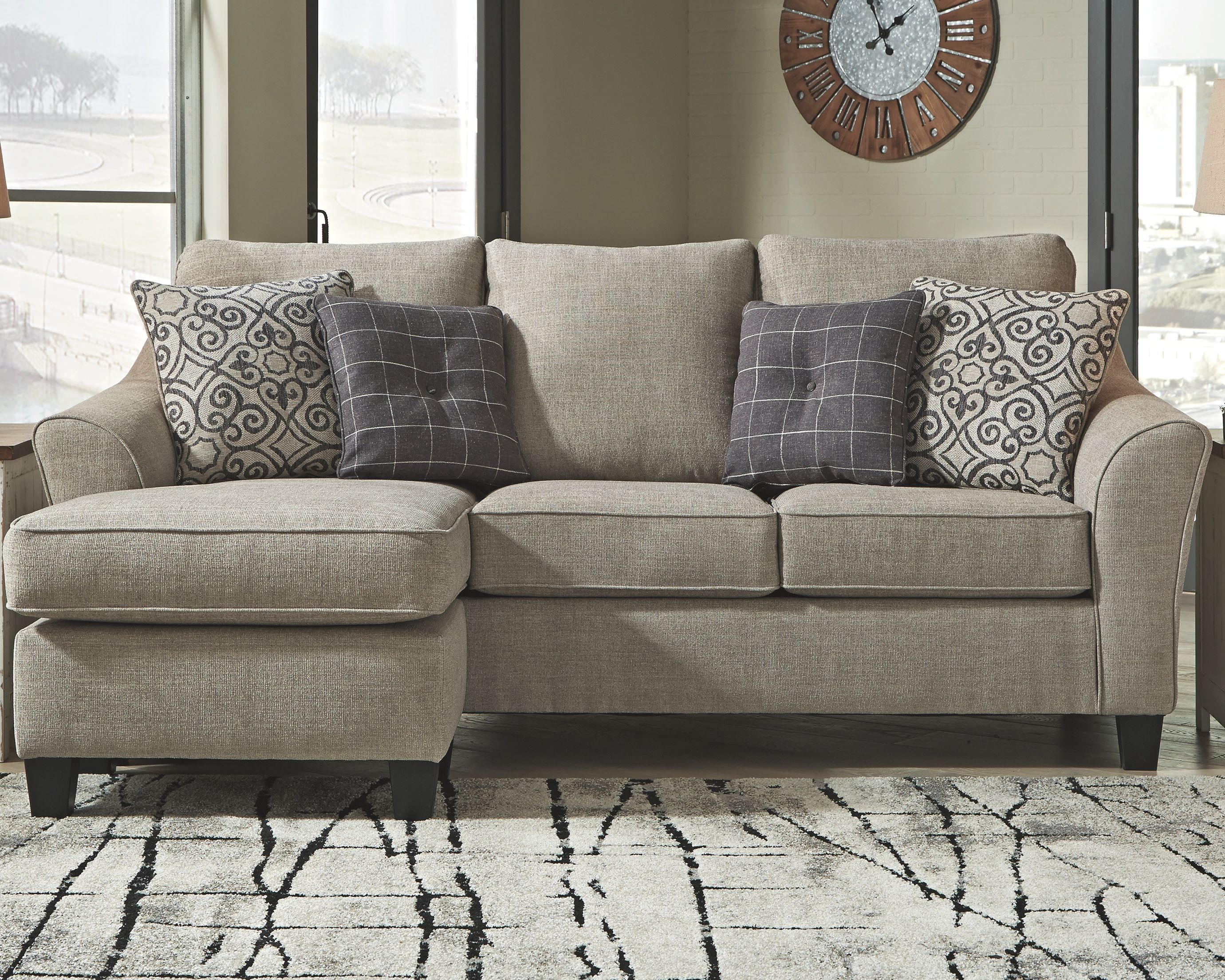 Kestrel Sofa Chaise Driftwood Ashley Furniture Living Room