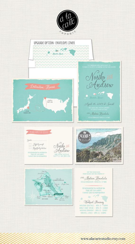 Destination Wedding Usa Japan Hawaii Bilingual Illustrated Wedding
