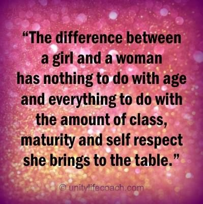 what is the difference between a woman and a girl