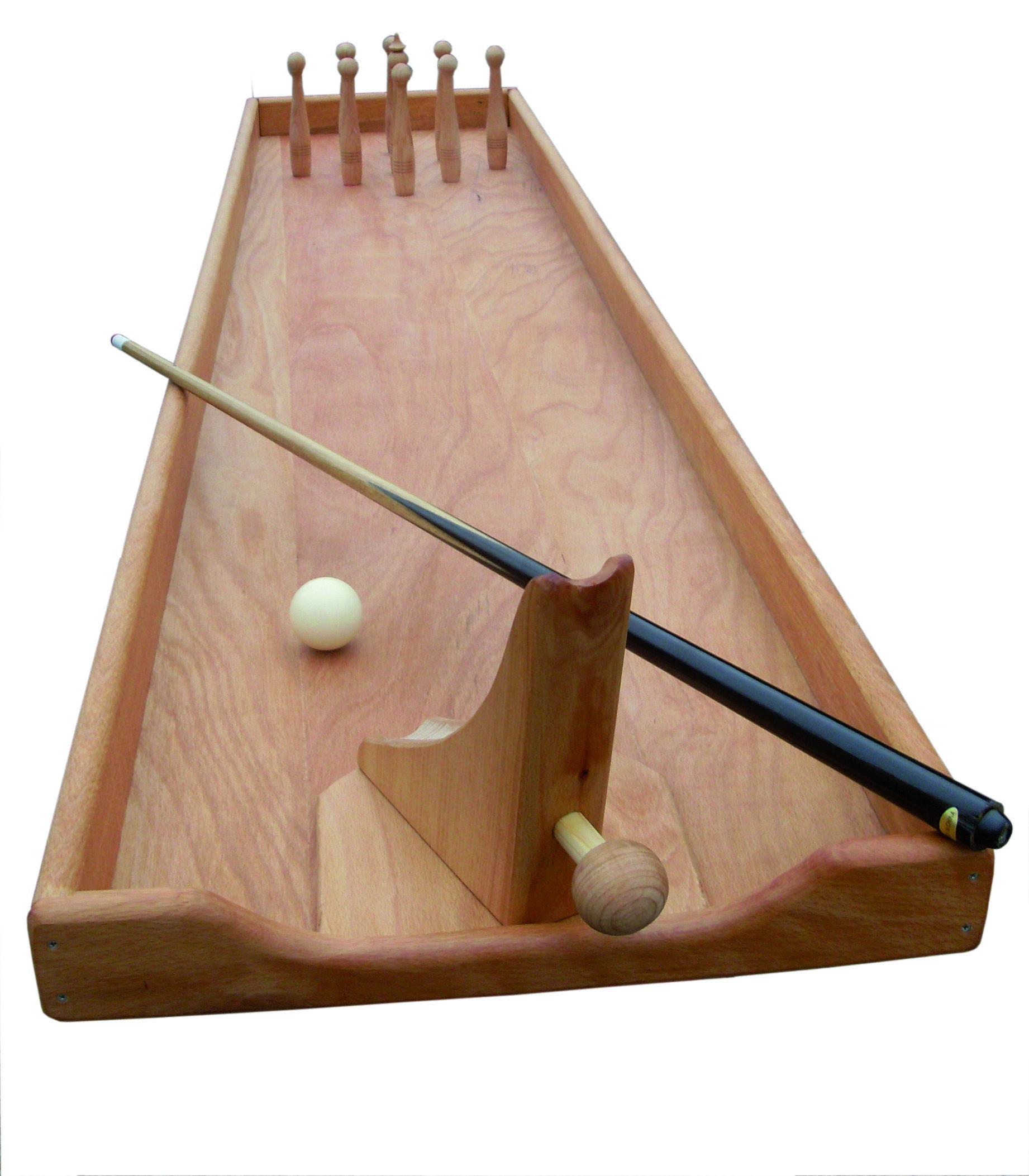 Tischkegelspiel Holz