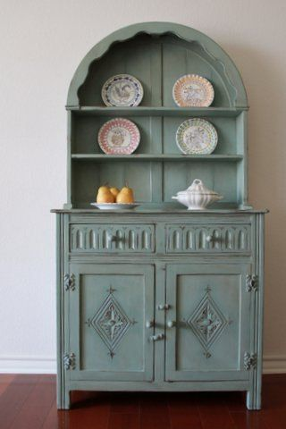 Painted Dome Top Welsh Cabinet by Nod to the Past