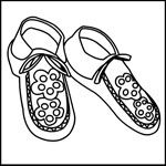 Native American Moccasins Coloring Pages Native American