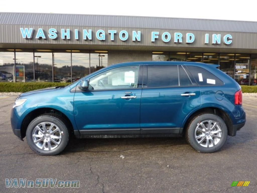 Teal bmw suv 2011 edge sel awd mediterranean blue metallic medium light stone