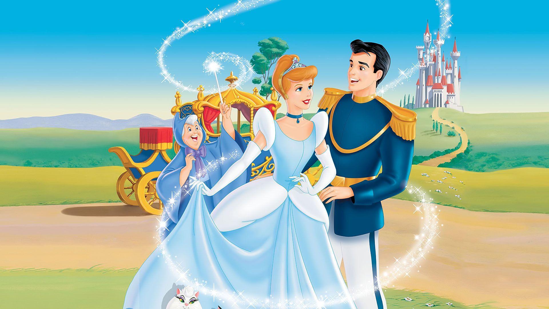 Princess Cinderella & Prince Charming Walt Disney Pictures Desktop ...