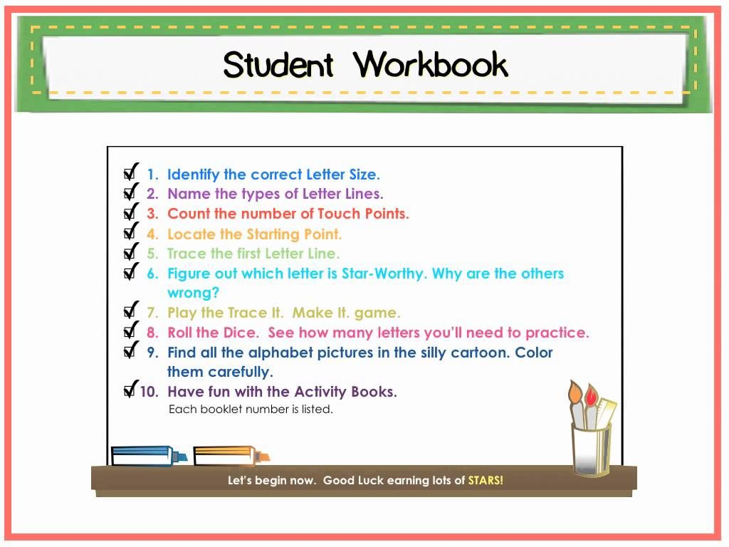 Directions To Use The Size Matters Handwriting Program Are