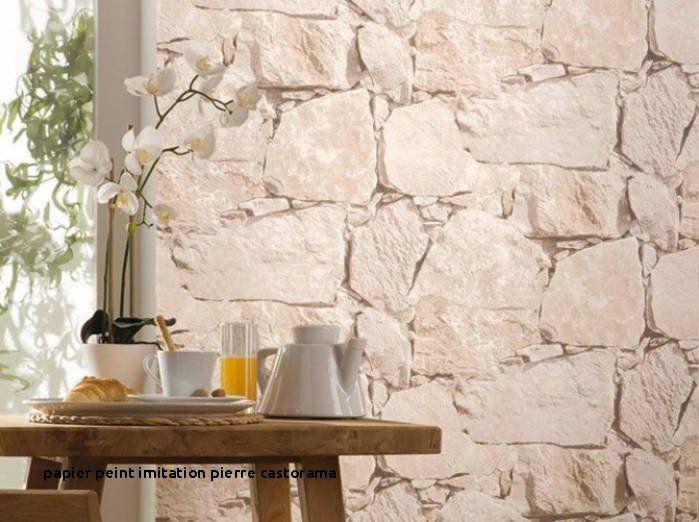 papier peint imitation pierre castorama