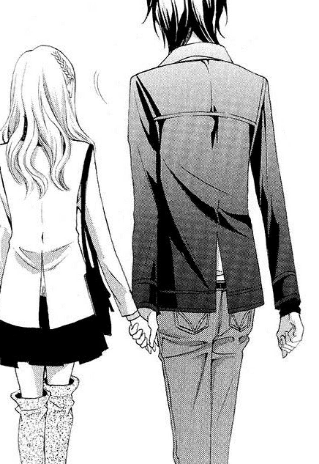 Hakoniwa telepathy manga shoujo couple romance love cute style fashion tumblr boy and girl hold hand