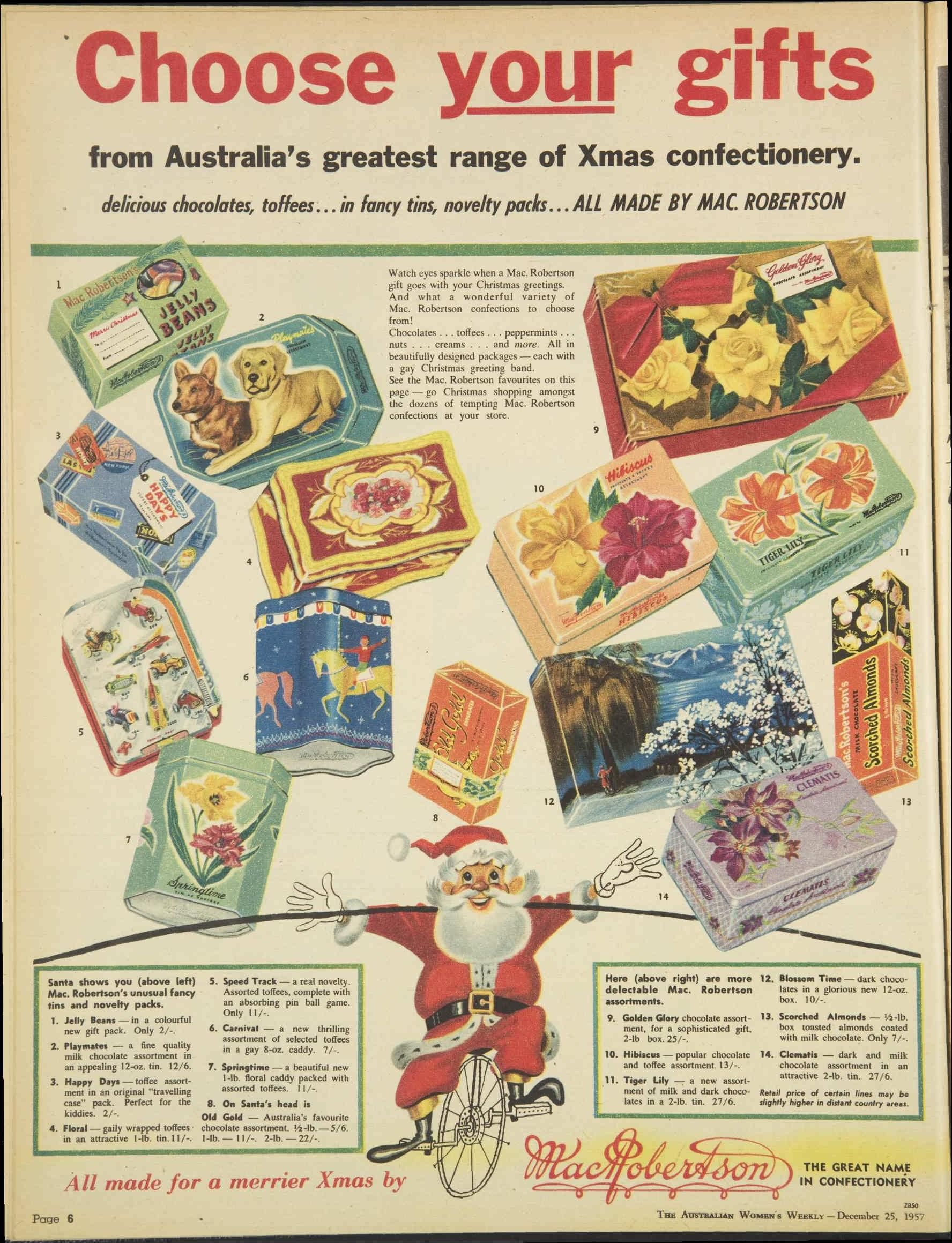 Issue 25 Dec 1957 The Australian Women's Wee... Gifts