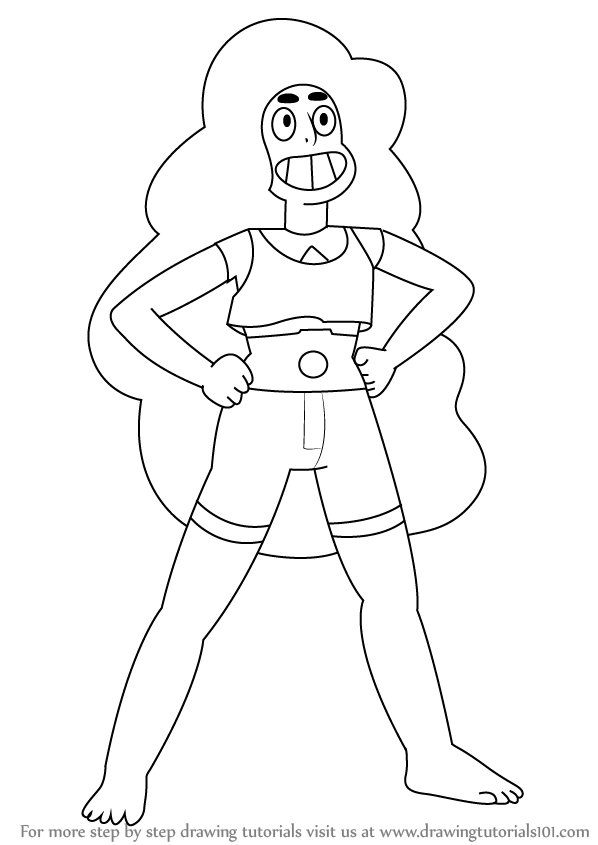 Learn How To Draw Garnet From Steven Universe Steven Universe Step