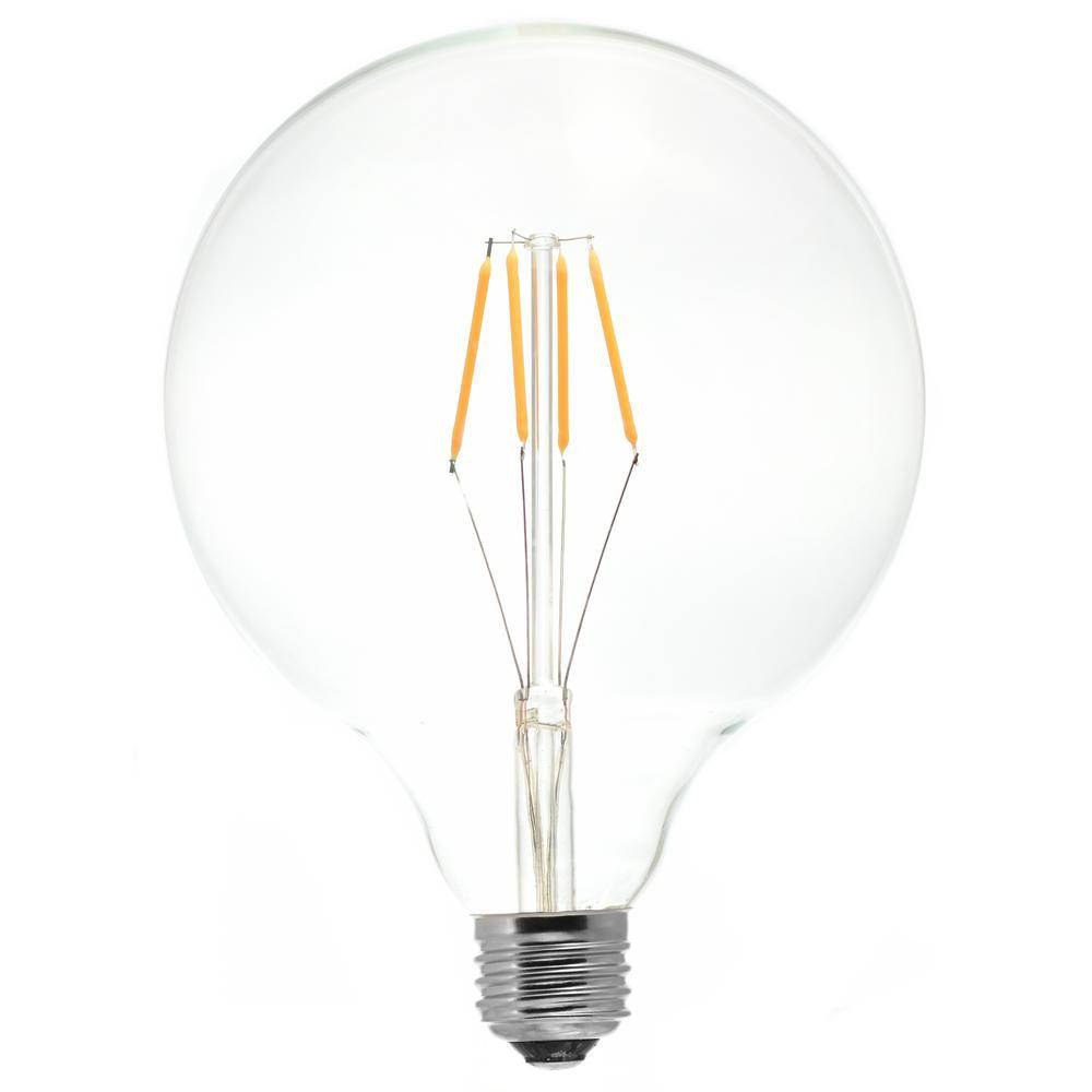 40 Watt Equivalent G40 Medium Base Dimmable Clear Led Light Bulb Warm White Tl5047 In 2020 Led Light Bulb Light Bulb Led Lights