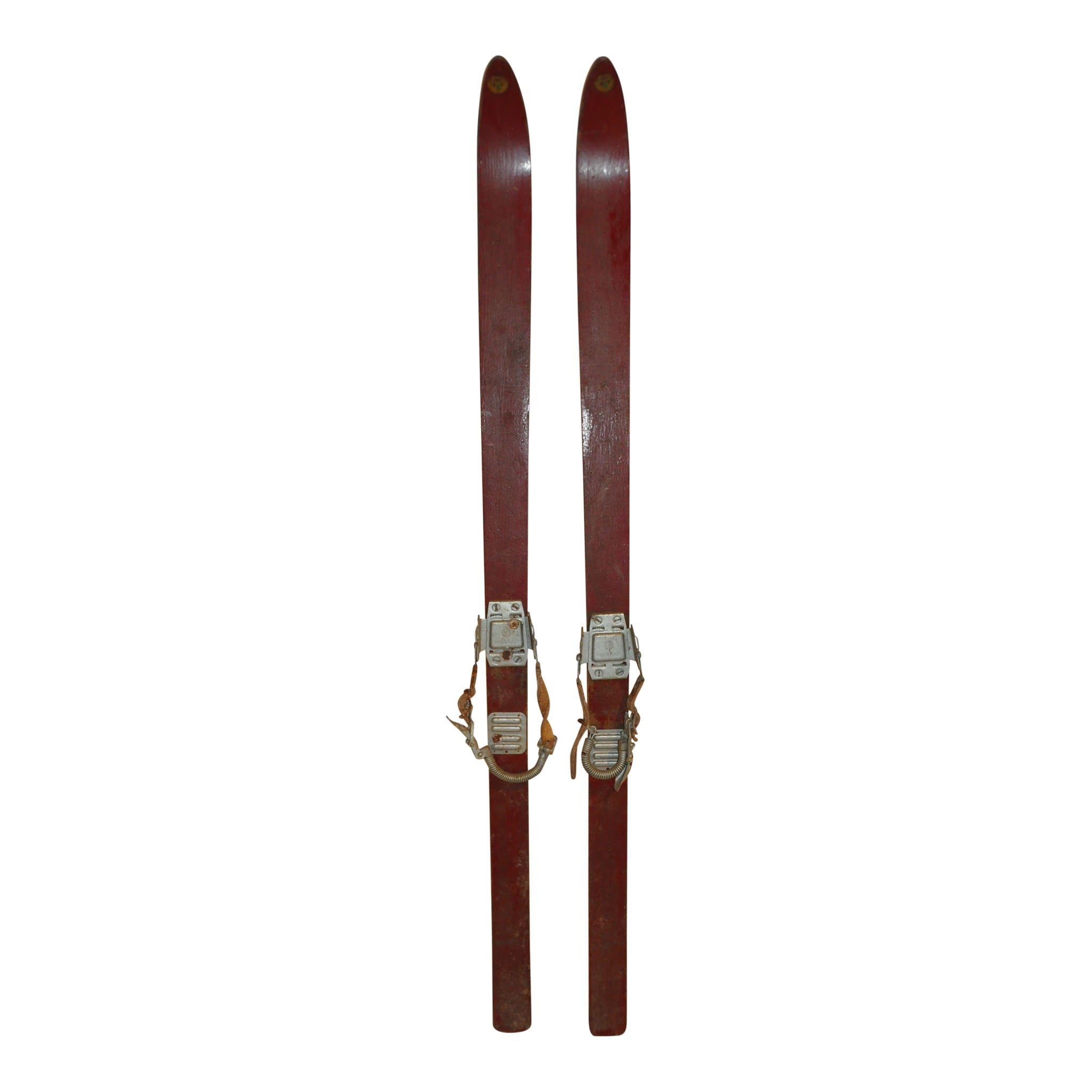 Sport Skis With Massag Bindings