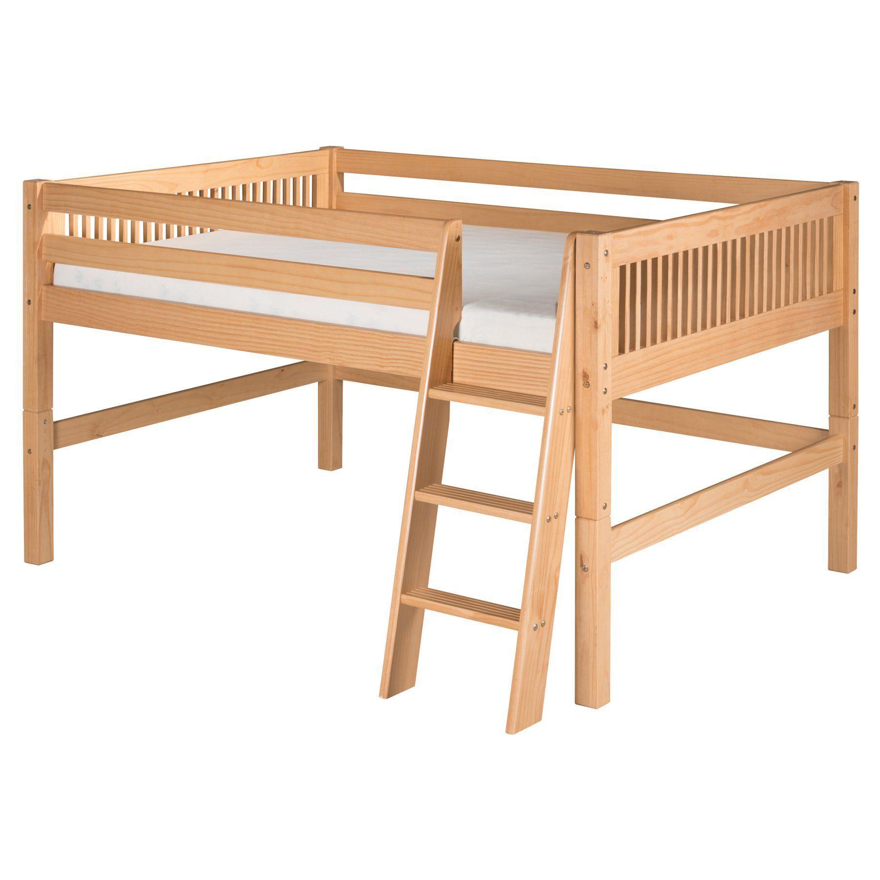 Low loft bed twin  Camaflexi Mission Headboard Low Loft Bed  CFWH  Low loft beds