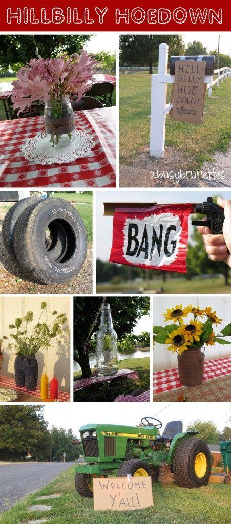 Hillbilly Hoedown Party Ideas 2busybrunettes Wedding Pinterest