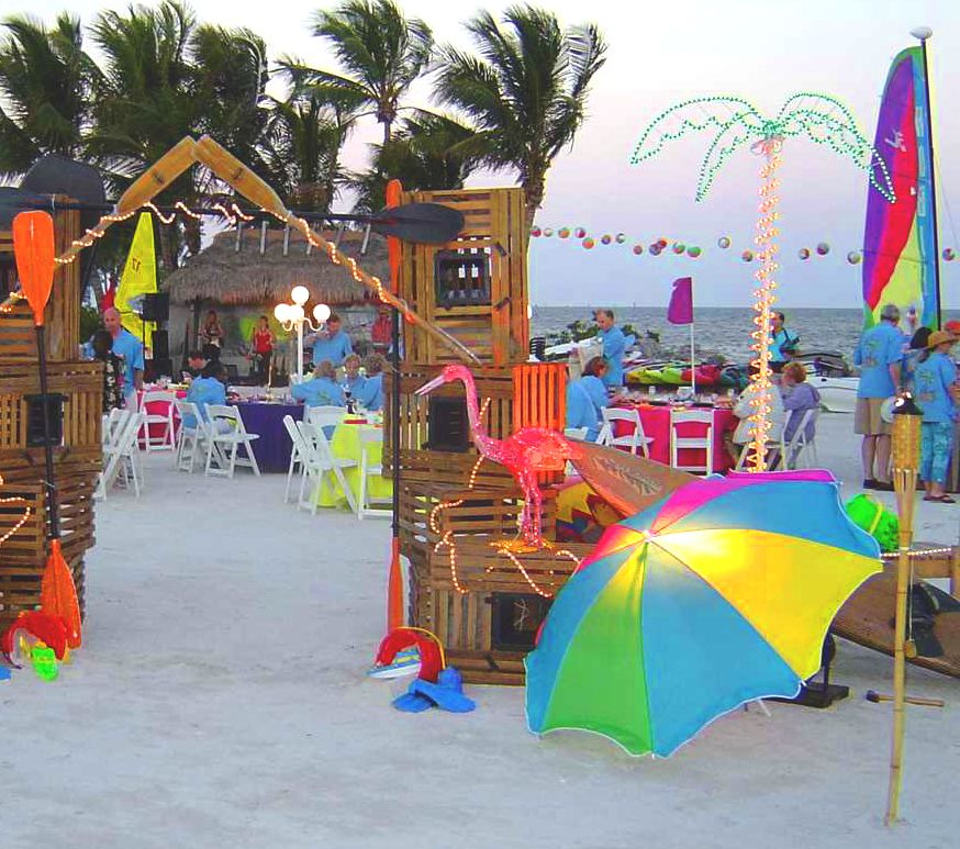 Beach party decorations beach party pinterest luau for Cheap beach decorations for the home