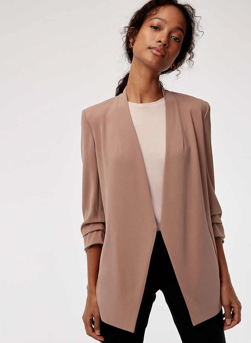 d1d93a0dbab4 This streamlined blazer is tailored with Terado™ fabric — a luxurious  Japanese matte crepe that has a satiny finish on the inside.