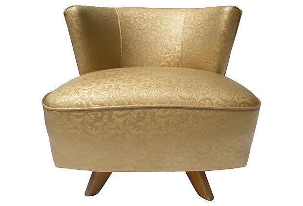 Merveilleux Modern Swivel Slipper Chair On OneKingsLane.com