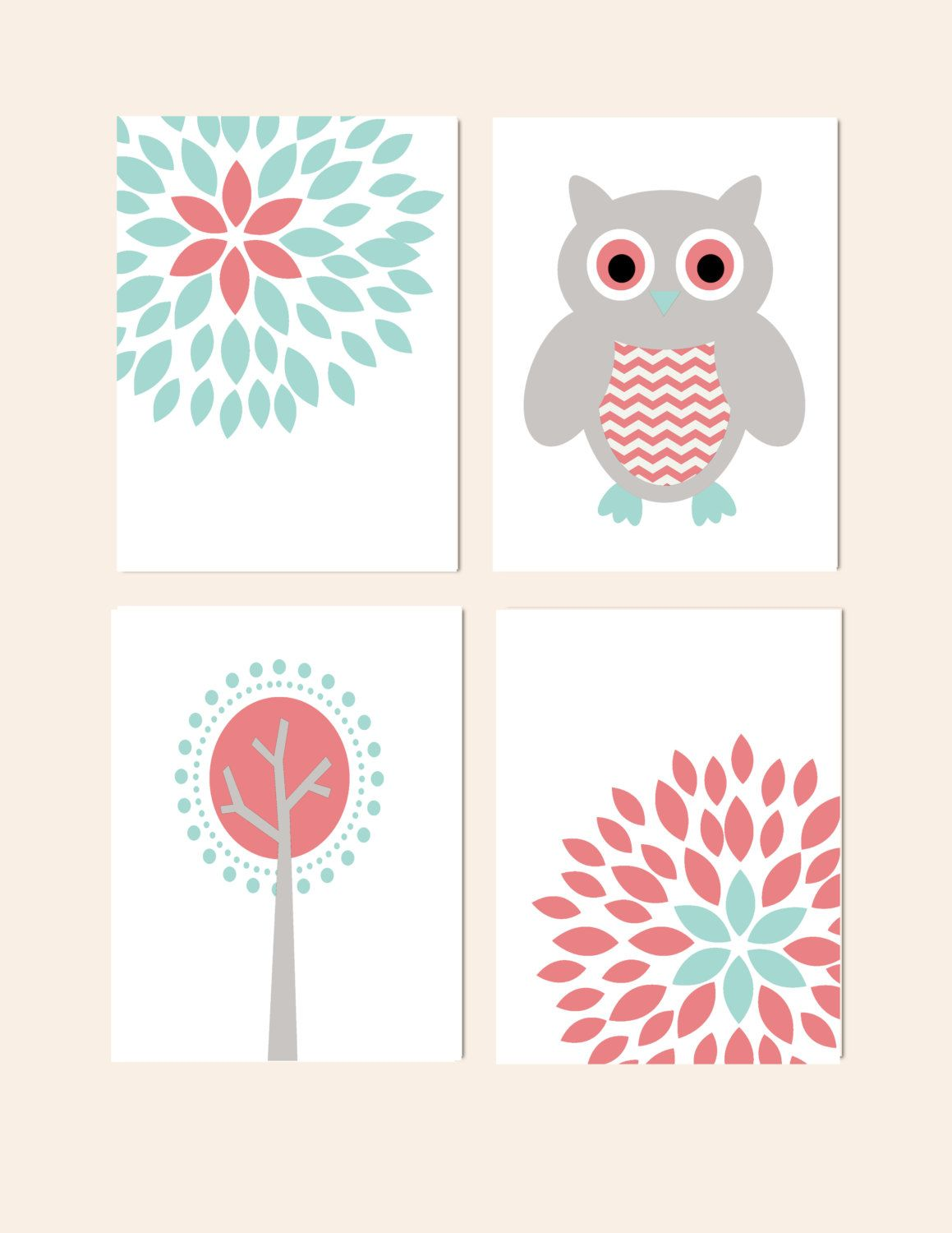 Nursery Wall Decor Prints for Girls Nursery Set of by HolaSunshine, $48.00
