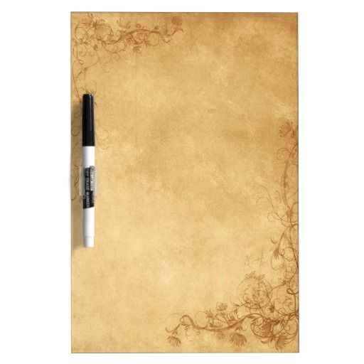 """Elegant vintage caramel brown dry erase board design featuring decorative corner scrolls on the top and bottom. The background is given a textured grunge Photoshop application for a vintage, antique paper look.  This design also comes on many other stationery products to suit all your wedding set needs. <br><h2><a href=""""http://www.zazzle.com/lasting__impressions/gifts?cg=196430955013736724"""" rel=""""nofollow"""">Click Here to View All my Vintage Caramel Brown Wedding Products.</a></h2>"""