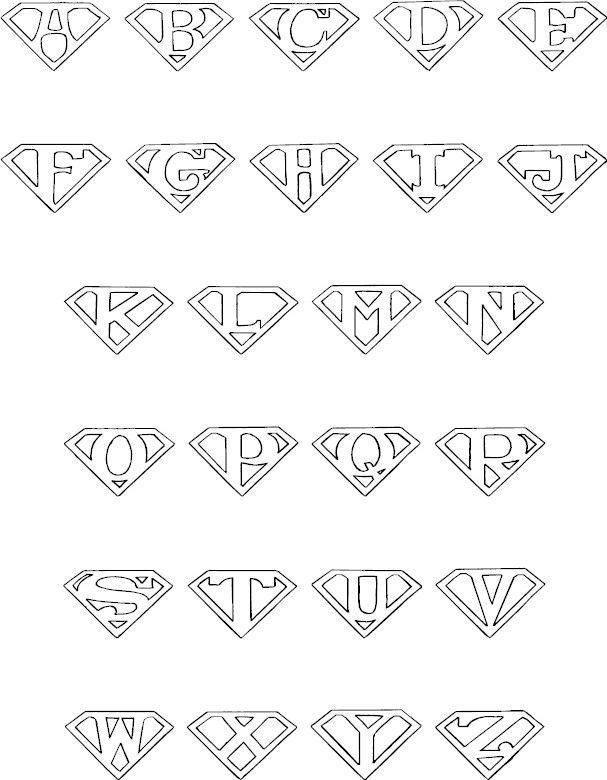 Ways to Write Letters in Superman Logos