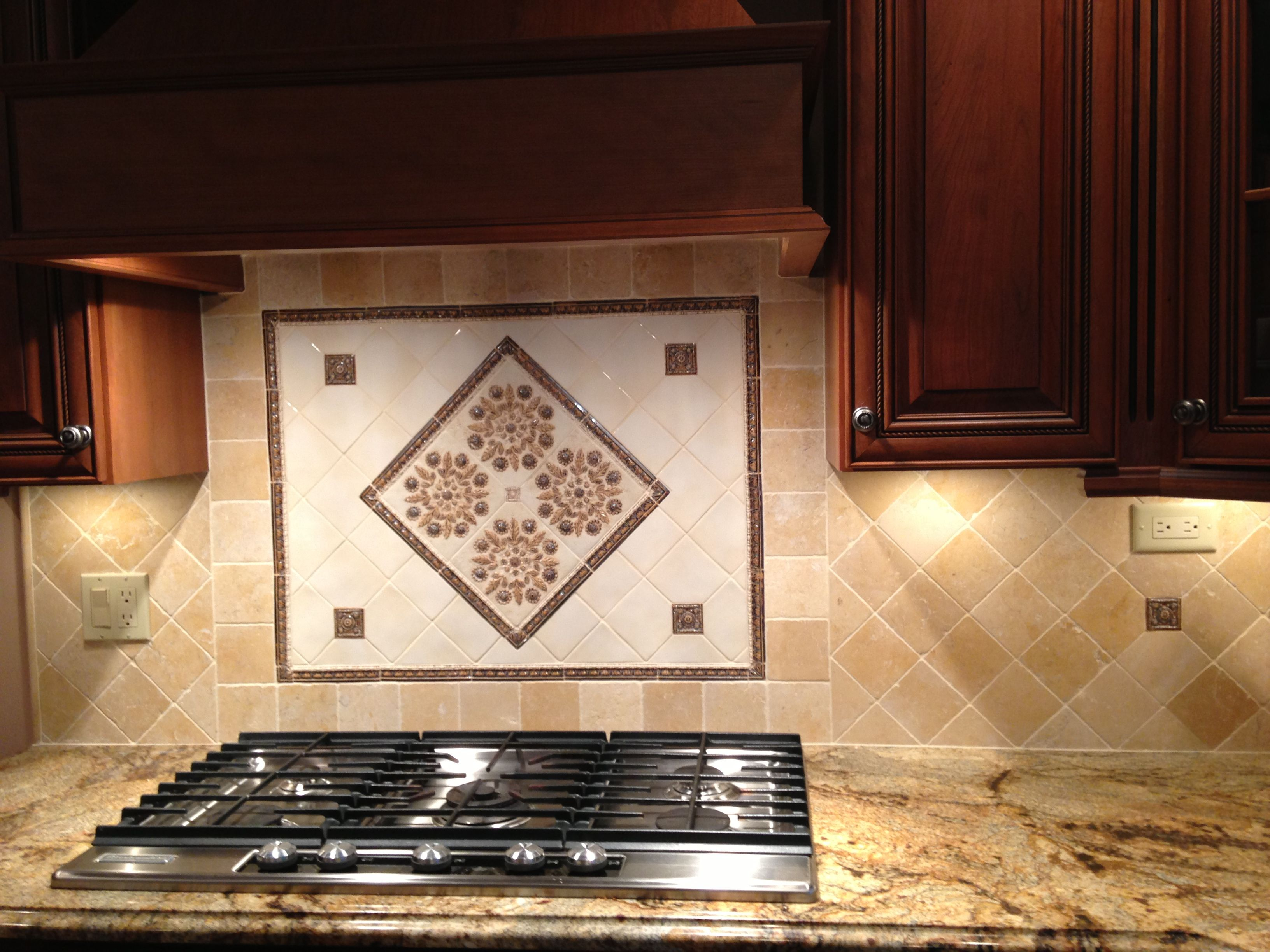 - Handmade Tile With Jerusalem Gold StoneI Don't Like The Center