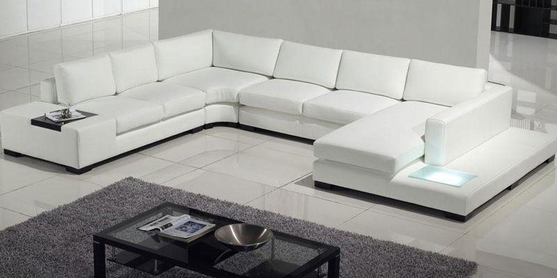 Pin By Kei Morita On Sofa White Leather Sofas Modern
