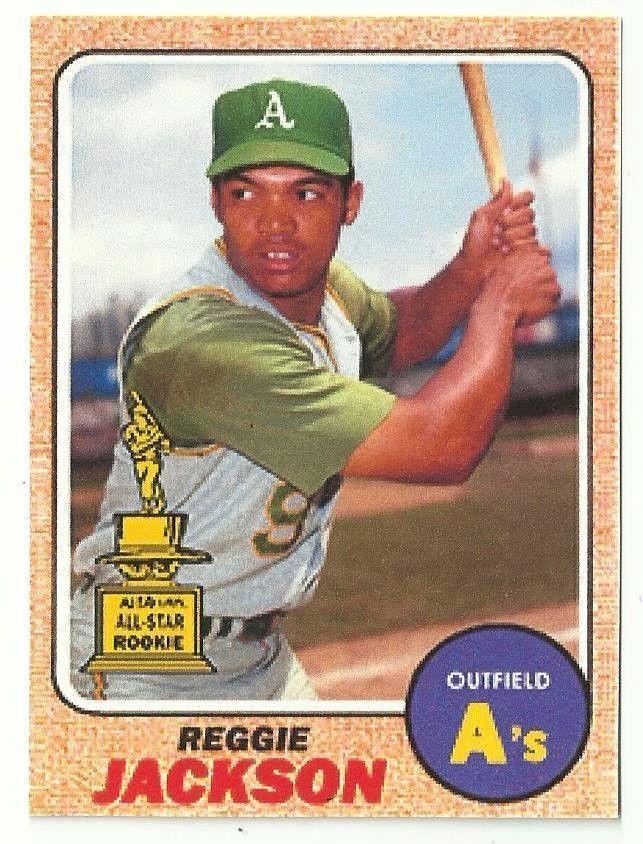 1968 Topps Reggie Jackson Baseball Cards Baseball Cards
