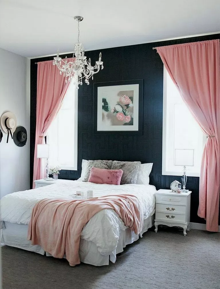 49 Ideas For Apartment Decorating Grey Bedside Tables Pink Bedroom Decor Grey Bedroom Decor White Bedroom Decor