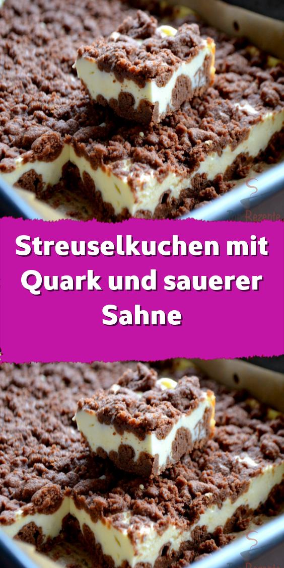 Streuselkuchen mit Quark und sauerer Sahne