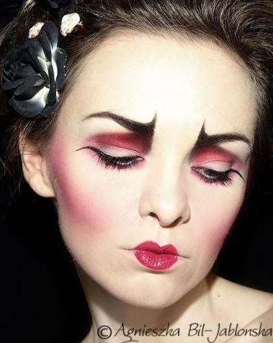 Scary Doll - make up inspirations for Halloween / inspiracje ...