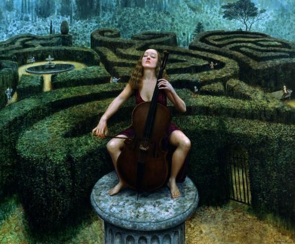 Painting by Mike Worrall