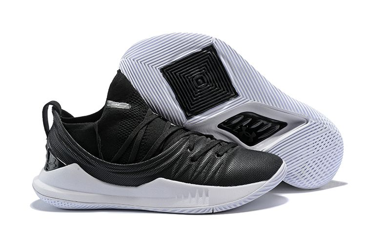 e47472cfc95 Newest Under Armour Curry 5 Low Black White Steph Curry Shoes ...