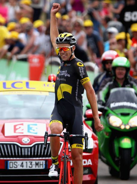 Lilian Calmejane Of France And Team Direct Energie Celebrates Crossing The Finish Line To Win Stage Eight Of The 2017 Le Tour De France Tour De France Tours Pro Cycling