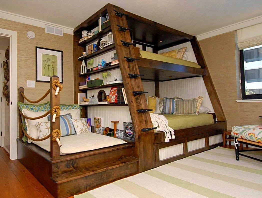 Poschodová posteľ pre detskú izbu v námorníckom štýle - StyloveByvanie.sk