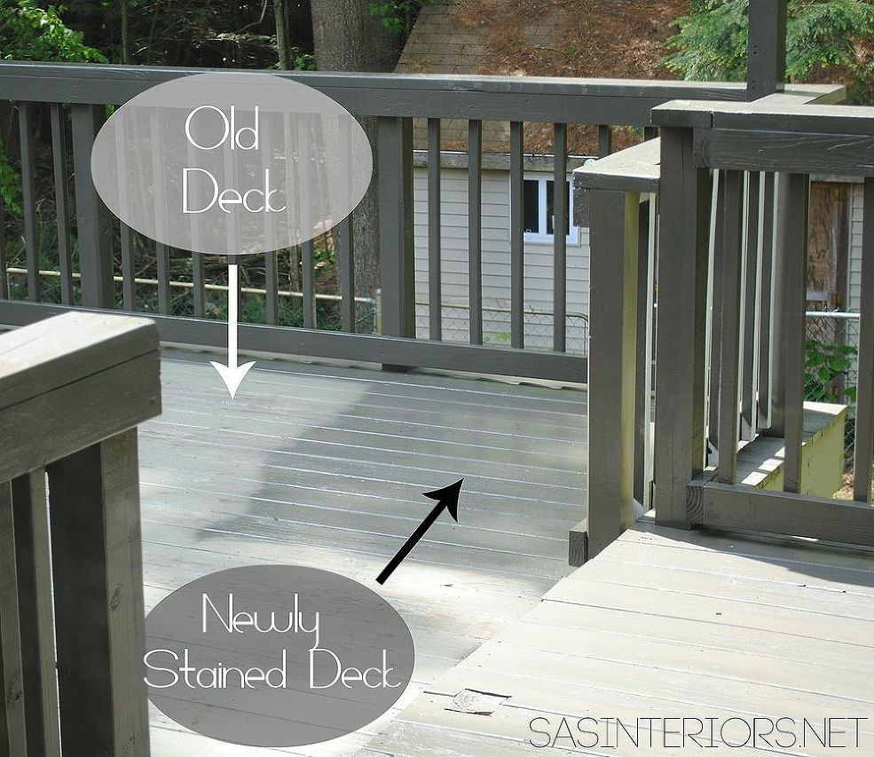 How-To Stain a Deck